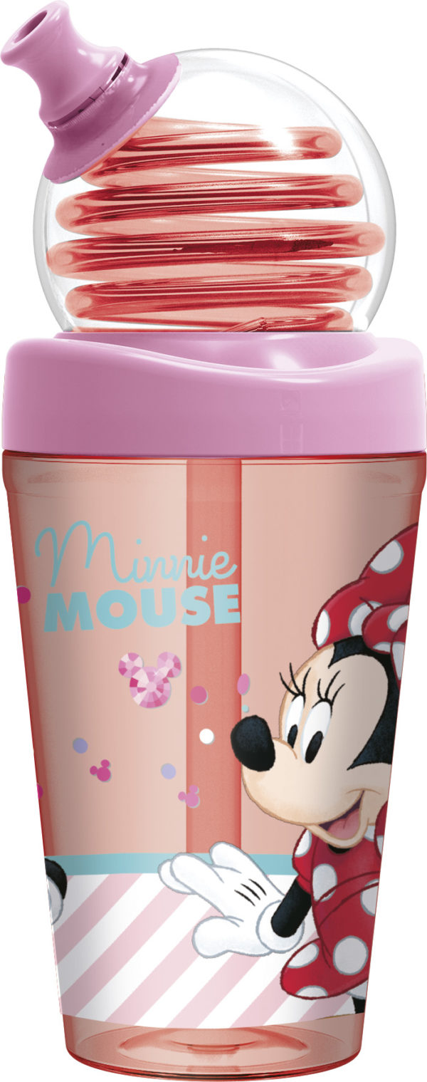 Minnie-mouse-spiral-straw-water bottle