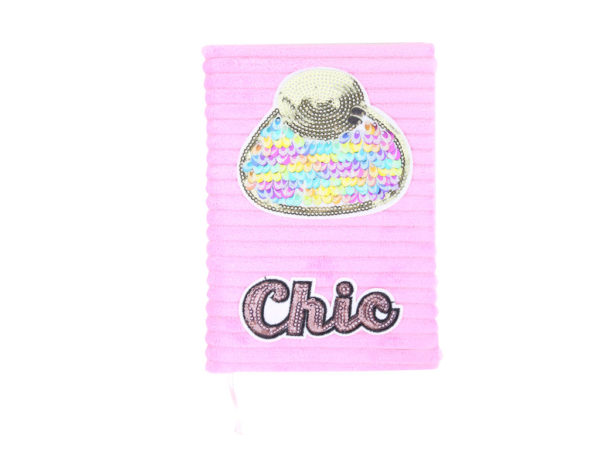 Chic-pink-glitter-changing-notebook