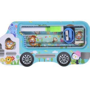 Happy-Animals-bus-pencil-case-set