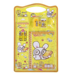 Lanbeitu-stationery-set-with-sharpener-eraser-pencils-notepad