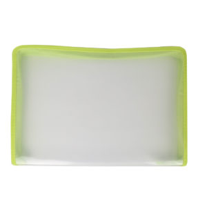 Clear-with-green-border-zip-bag-folder