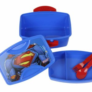Superman-2-layer-lunchbox-with-spoon-set