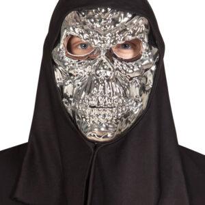 Face mask Silver skull