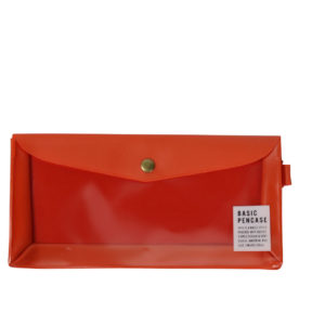 Red-basic-clear-pencil-case