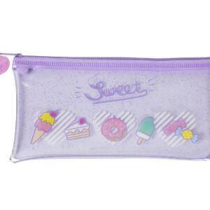 Sweet-purple-clear-shimmery-pencil-case