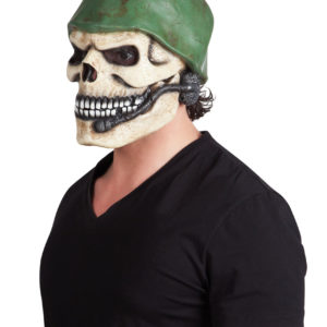 Latex-face-mask-Soldier-skull