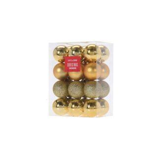24 -pcs- golden- color- ball -ornament- set
