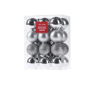 24- pcs- silver- color- ball- ornament- set