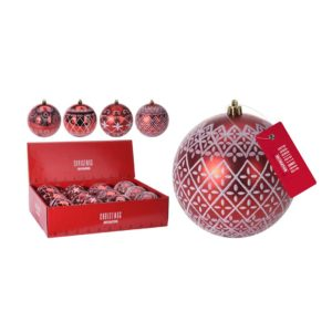 Christmas -Ornament - Red-design- ball -et