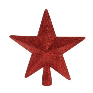 Red- Glittery -Christmas- Tree -Topper