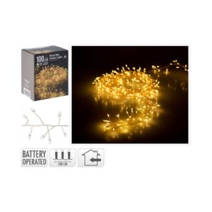 SILVER-WIRE-CLUSTER-GOLDEN-LIGHTS-100-LED-BATTERY-OPERATED