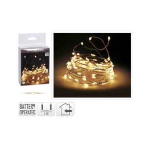 SILVER-WIRE-GOLDEN-LIGHTS-100-LED-BATTERY OPERATED
