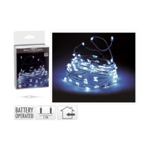 SILVER-WIRE-WHITE-LIGHTS-100-LED-BATTERY-OPERATED