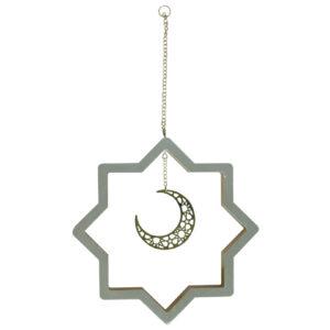 زينة البيضاء danling نجوم-مع-التعلق الهلال