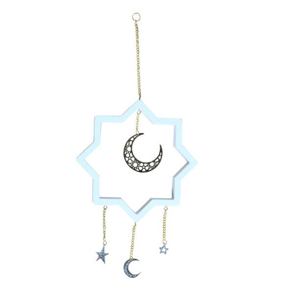 Decorative-White-Dangling-Star