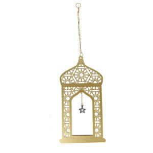 Golden-dangling-Lantern-with-Arabesque-design