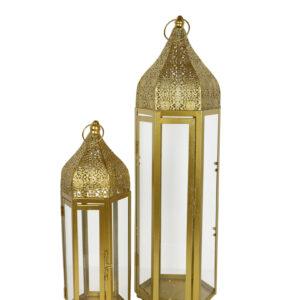 Ramadan-Lanterns-Golden-Arabsque-long-transparent-glass-lanterns