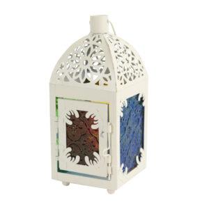 Ramadan White Colored-glass Square-Design Arched Top