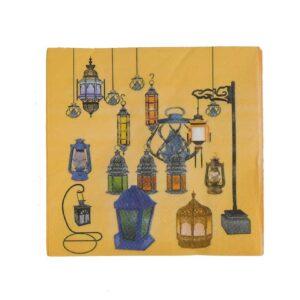 Daiso-Ramadan-Yellow-Napkins