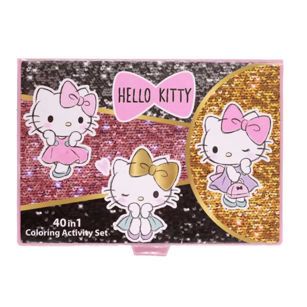 Hello Kitty 40 in 1 coloring activity set