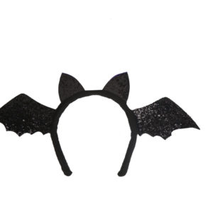 Black Bat Wings Glittery Headpiece