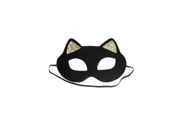 Black Cat Mask With Golden Ears