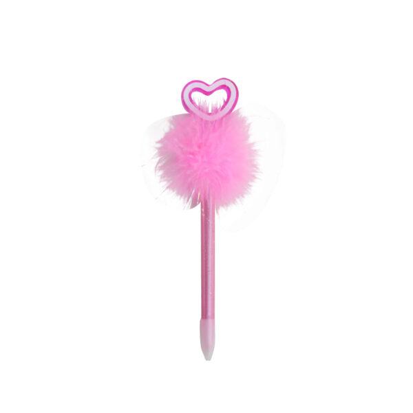 Pink-feathery-heart-pen