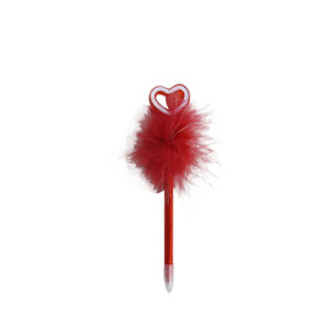 Red-feathery-heart-pen