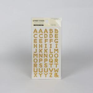 الذهب-حجر الراين-ملصقات الأبجدية